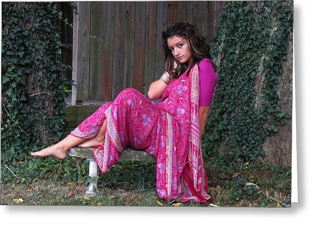 Pondering Photographs Greeting Cards - Ponder Greeting Card by Vijay Sharon Govender