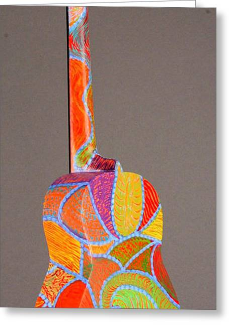 Decorate Sculptures Greeting Cards - Pono Tenor Ukulele Greeting Card by Jean Groberg
