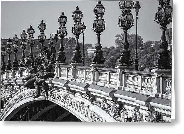 Pont Alexander IIi Bw Greeting Card by Clarence Holmes