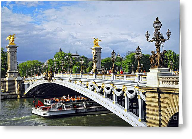 Alexandre Greeting Cards - Pont Alexander III Greeting Card by Elena Elisseeva