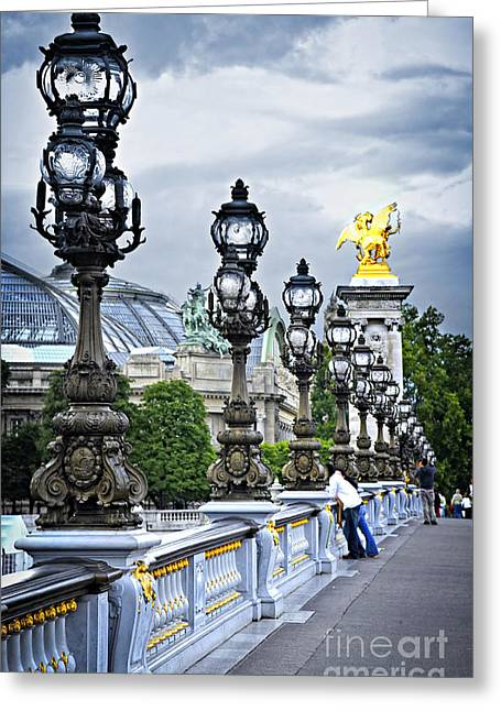 Alexandre Greeting Cards - Pont Alexander III in Paris Greeting Card by Elena Elisseeva