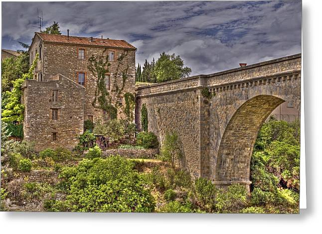 Pont De Minerve Greeting Card by Rod Jones