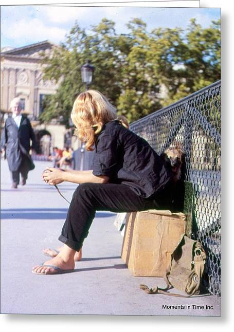 Color_image Greeting Cards - Pont Des Arts Paris 1963 Greeting Card by Glenn McCurdy