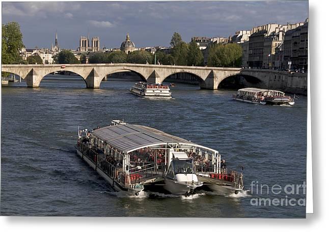 Pont du Carroussel. Paris. France Greeting Card by BERNARD JAUBERT