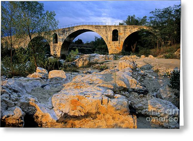 South Of France Photographs Greeting Cards - Pont Julien. Luberon. Provence. France. Europe Greeting Card by Bernard Jaubert