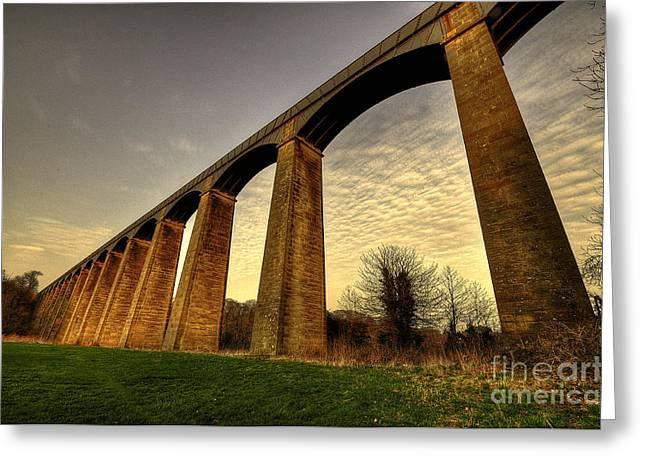 Pontcysyllte Aqueduct Greeting Card by Rob Hawkins