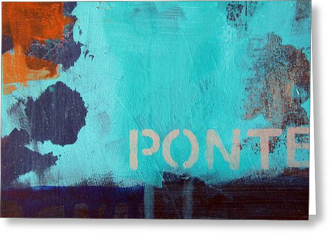 Ponte Greeting Card by Linda Woods