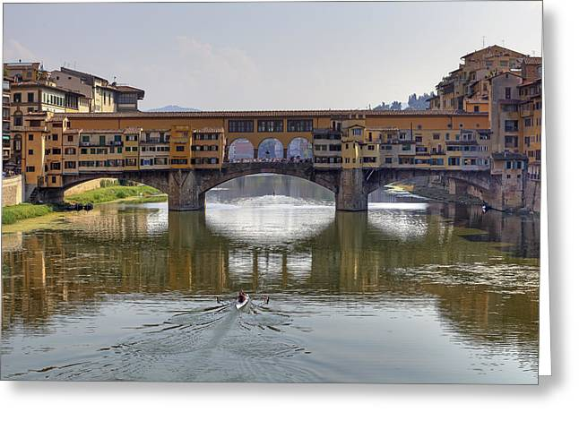 Florence Greeting Cards - Ponte Vecchio Greeting Card by Joana Kruse