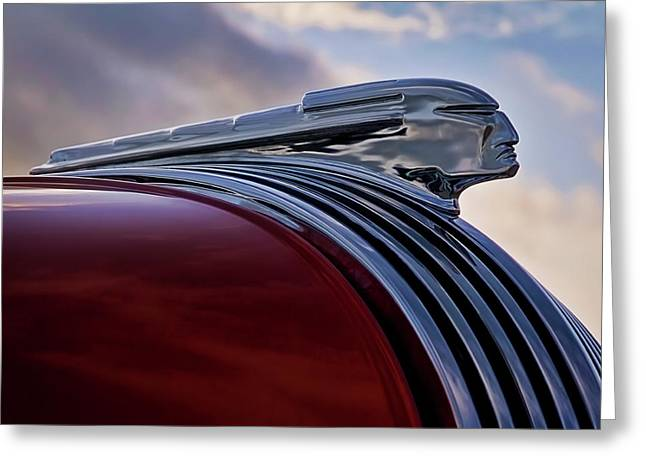 Vintage Hood Ornament Greeting Cards - Pontiac Chief Greeting Card by Douglas Pittman
