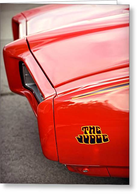 Dragway Greeting Cards - Pontiac GTO - The Judge Greeting Card by Gordon Dean II