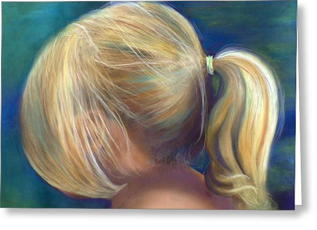 Ponytail Pastels Greeting Cards - Ponytail Greeting Card by Sharon Allen