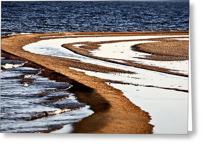 Summer Scene Greeting Cards - Pool along a beach at Lake Diefenbaker  Greeting Card by Mark Duffy