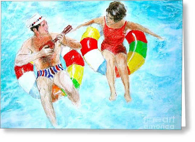 Pool Greeting Card by Beth Saffer