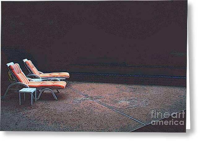 Pool Chairs Greeting Card by David Klaboe