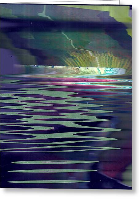 Pool Of Reflections And Memories Greeting Card by Anne-Elizabeth Whiteway
