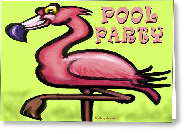 Pool Party Greeting Card by Kevin Middleton