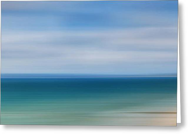 Christmas Greeting Greeting Cards - Poole Bay Panorama Abstract Greeting Card by Chris Day