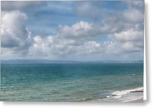 Christmas Greeting Greeting Cards - Poole Bay Panorama Greeting Card by Chris Day