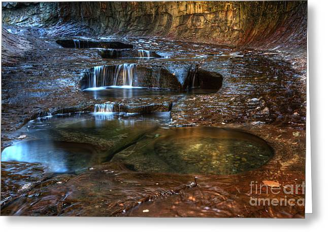 Hike The Subway Greeting Cards - The Subway Pools Of Light Greeting Card by Bob Christopher