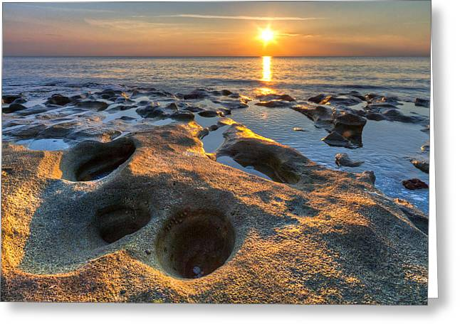 Spring Training Photographs Greeting Cards - Pools of Light Greeting Card by Debra and Dave Vanderlaan