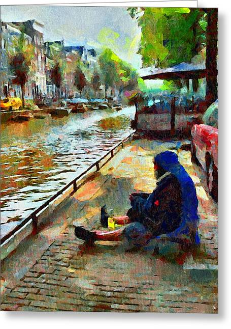 Drug House Greeting Cards - Poor in Amsterdam Greeting Card by Yury Malkov