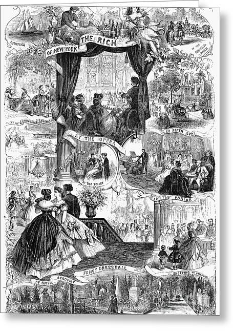 Eviction Greeting Cards - Poor New York, 1865 Greeting Card by Granger