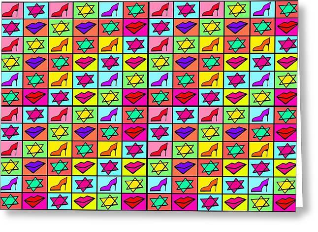 1980 Digital Greeting Cards - Pop art of 1980s Greeting Card by Sumit Mehndiratta