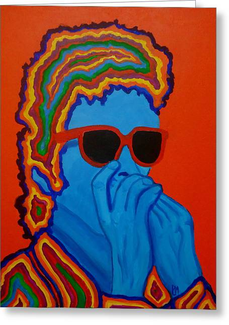 Peter Max Greeting Cards - Pop Dylan Greeting Card by Pete Maier