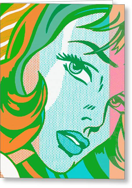 Beautiful Girl Greeting Cards - Pop Girl Greeting Card by Christian Colman