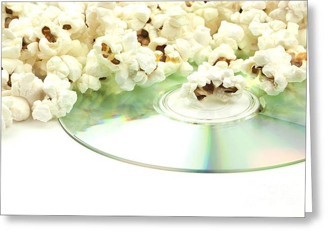 Popcorn And Movie  Greeting Card by Blink Images