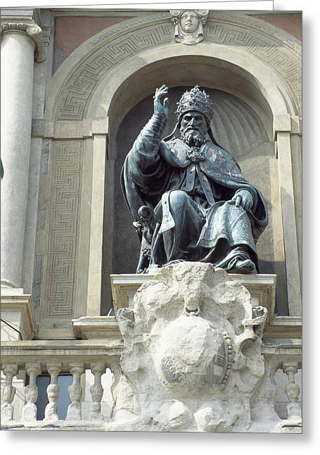 Statue Portrait Greeting Cards - Pope Gregory Xiii, Italian Pope Greeting Card by Sheila Terry