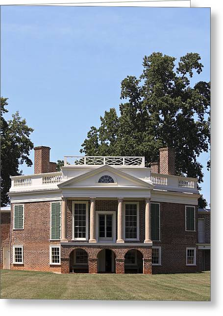 Poplar Forest From The Lawn Greeting Card by Teresa Mucha