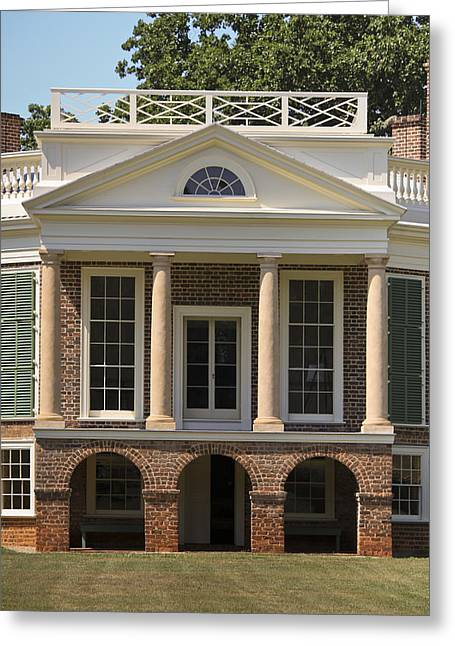 Poplar Forest South Portico Greeting Card by Teresa Mucha