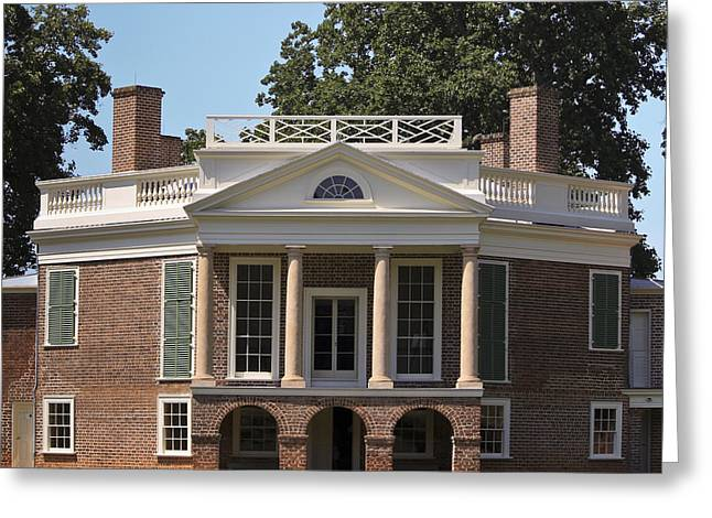 Poplar Forest Squared Greeting Card by Teresa Mucha