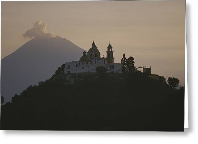 Puebla Greeting Cards - Popocatepetl Volcano Rises Greeting Card by Raul Touzon