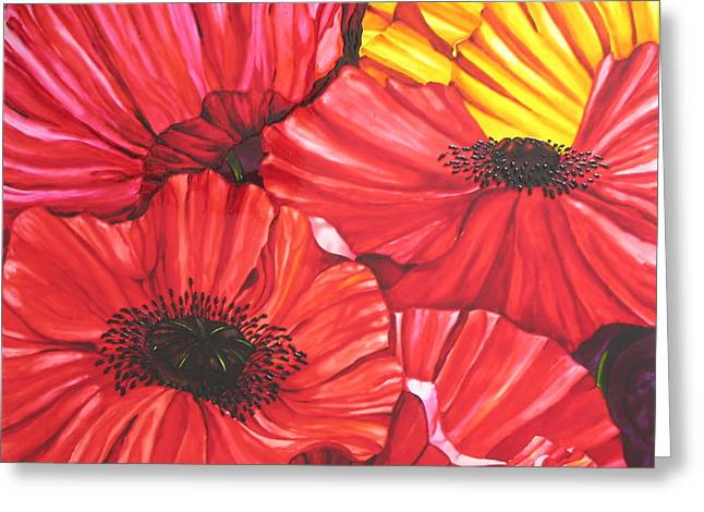 Poppies Fantasy Greeting Card by Gabriela Stavar
