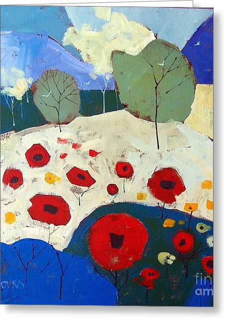 Poppies Greeting Card by Micheal Jones