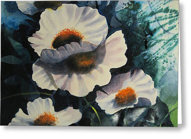 poppies Greeting Card by Robert Carver