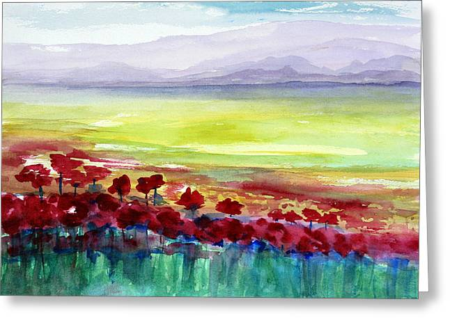 Floral Photographs Paintings Greeting Cards - Poppy Meadow 2 Greeting Card by Julie Lueders