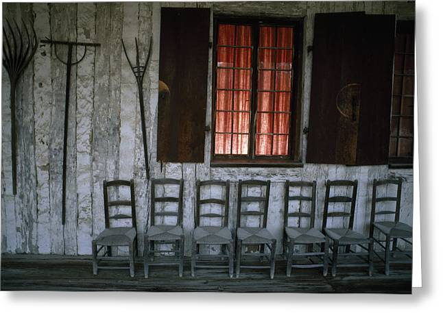 American Colonial Architecture Greeting Cards - Porch Of The Bolduc House Museum Greeting Card by Randy Olson