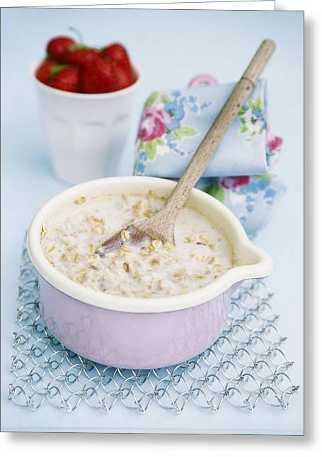 Porridge Greeting Cards - Porridge In A Pan Greeting Card by Veronique Leplat