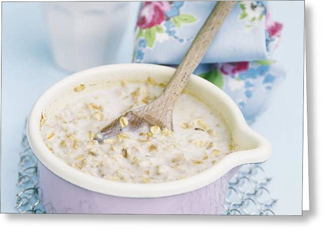 Porridge In A Pan Greeting Card by Veronique Leplat