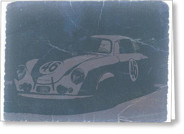 Classic Porsche 356 Greeting Cards - Porsche 356 Coupe Front Greeting Card by Naxart Studio