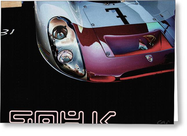 Indy Car Greeting Cards - Porsche 908K Graphic Greeting Card by Curt Johnson