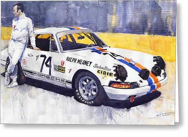 Porsche 911 Sebring 1970 Ralf Meaney Greeting Card by Yuriy  Shevchuk
