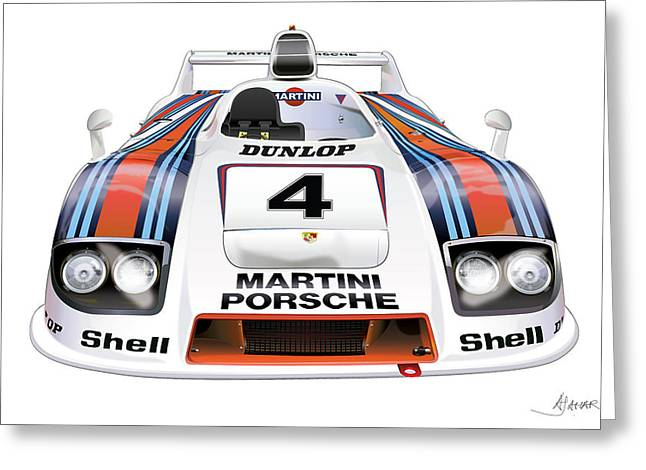 Alm Greeting Cards - Porsche 936 Spyder 1980 Greeting Card by Alain Jamar