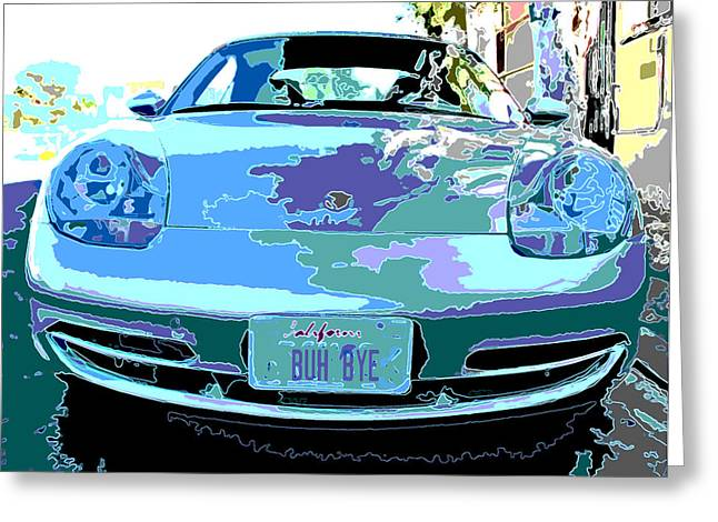 Sheats Greeting Cards - Porsche Carrera Front Study Greeting Card by Samuel Sheats