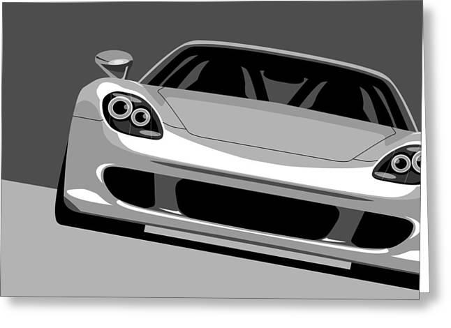 Porsche Greeting Cards - Porsche Carrera GT Greeting Card by Michael Tompsett