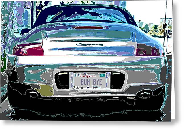 Sheats Greeting Cards - Porsche Carrera Rear Study Greeting Card by Samuel Sheats