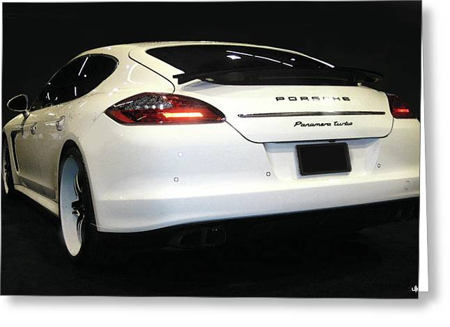 Digital Photographs Greeting Cards - Porsche Panamera Greeting Card by Uli Gonzalez